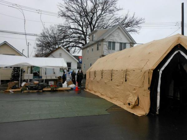 Sun Helps Sandy Victims in Staten Island